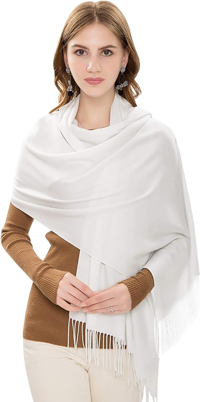 YAOMEI Unisex Mujer Bufanda Pashmina, 2020 Mujer invierno lujosa ligera y suave Chales Estolas Fulares Bufanda Pañuelo caliente