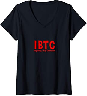 Womens Itty Bitty Titty Committee Gift Women Small Boobs IBTC V-Neck T-Shirt