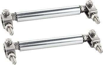 Dewhel Universal Car Front Bumper Lip Splitter Rod Strut Tie Bar Support Kit JDM 2.96 INCH (Silver)