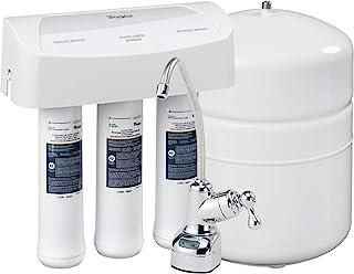 سیستم تصفیه Whirlpool WHER25 Reverse Osmosis (RO) با شیر آب کروم | عمر طولانی فوق العاده | جایگزین کارتریج های فیلتر UltraEase ، سفید ، آسان