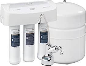 Whirlpool WHER25 Reverse Osmosis (RO) Filtration System With Chrome Faucet | Extra Long Life | Easy To Replace UltraEase F...