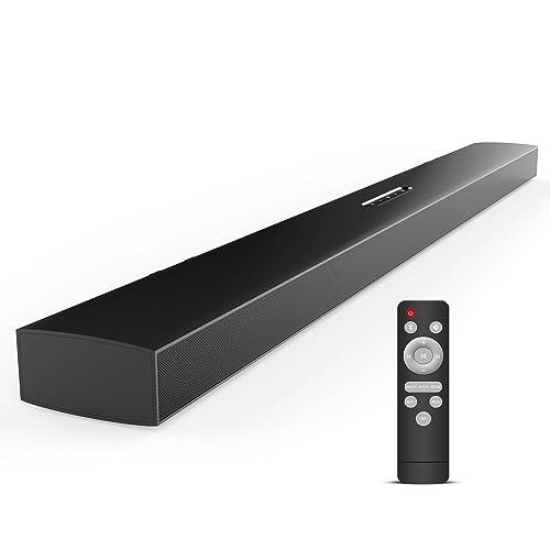 Meidong Barres de Son, Barres de Son pour TV Home Cinema Sans Fil HIFI Surround Bluetooth Enceinte pour Television (Model Upgraded)