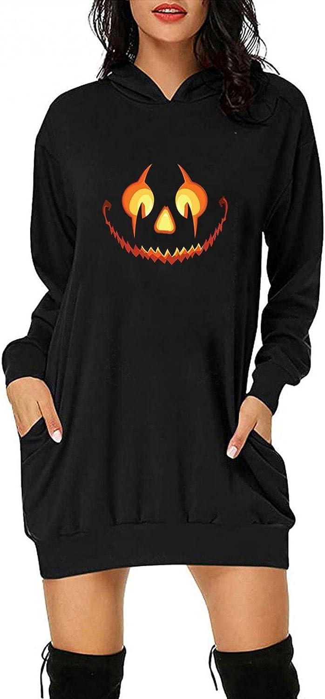 HonpraD Women Sweatshirt Dress Long Wholesale Crew Price reduction Casual Sleeve Neck Pull