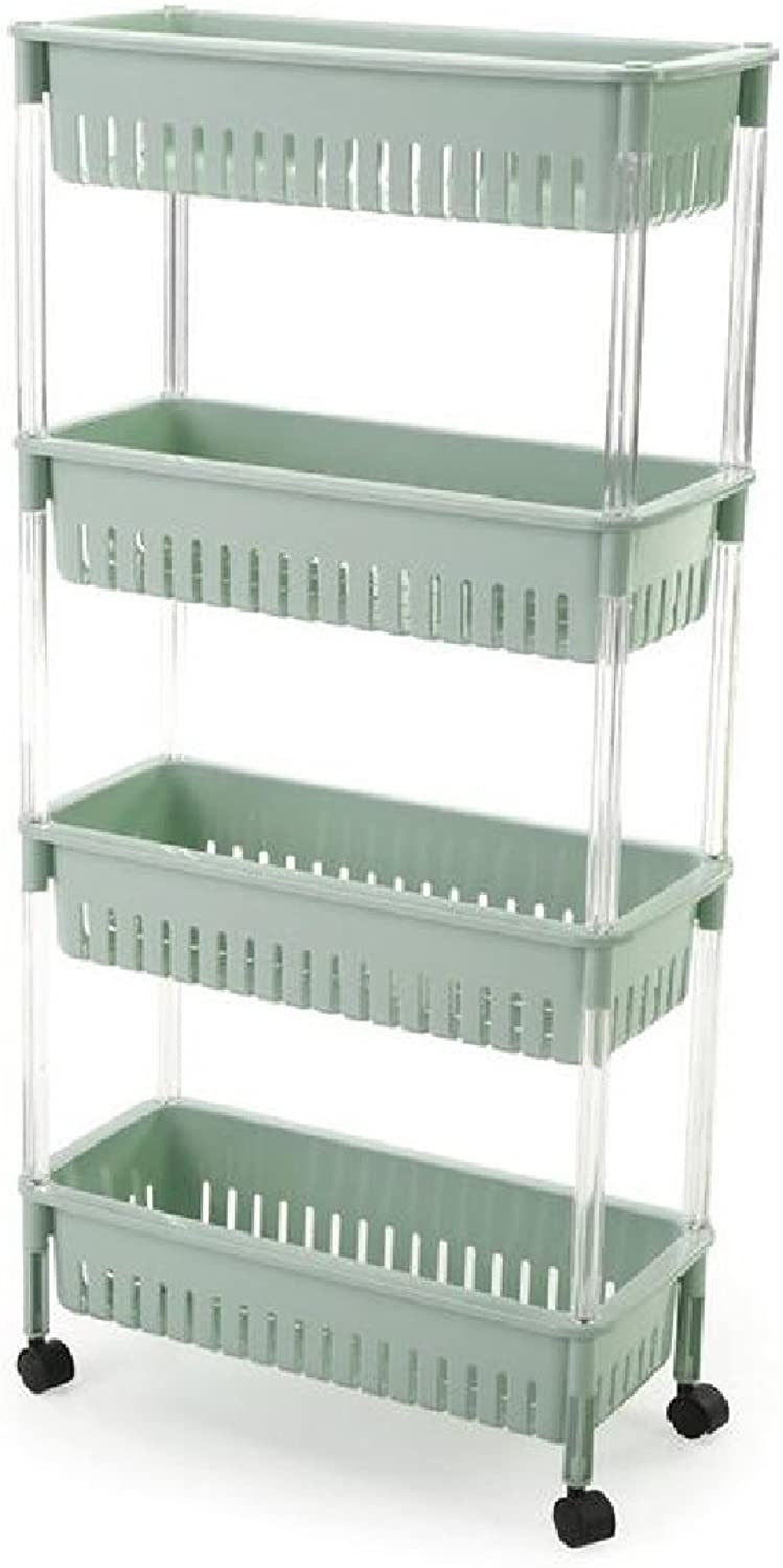 Andopa Shelving Unit Wall Mounted Adjustable Solid Purpose Industrial Pipe Wire Storage Rack Green 4 Shelves