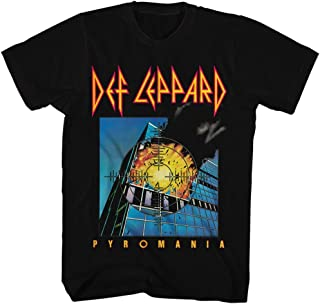 Def Leppard 80s Heavy Hair Metal Band Rock and Roll Pyromania Adult T-Shirt Tee