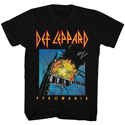 938253f369f Def Leppard 80s Heavy Hair Metal Band Rock and Roll Pyromania Adult T-Shirt  Tee
