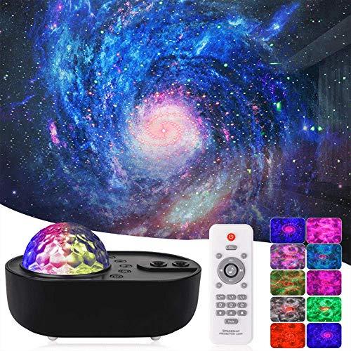 LED Sternenhimmel Projektor Lampe Galaxy Projektor 10 Farbmodi Drehbar Mit Bluetooth Timer Fernbedienung für Erwachsene, Kinder, Party, Geschenke, Weihnachten