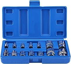SANON Zestaw narzędzi do naprawy 14 sztuk stal chromowo-wanadowa typu E Torx gwiazda bity gwint E4-E24 1/4 3/8 1/2 napęd