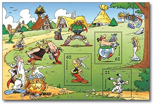 Blockausgabe Asterix & Obelix | Briefmarken-Block |Deutsche Post | postfrisch |Idefix |Miraculix |Majestix |Automatix |Troubadix |Falbala |Methusalix | Ausgabetag 1. September 2015