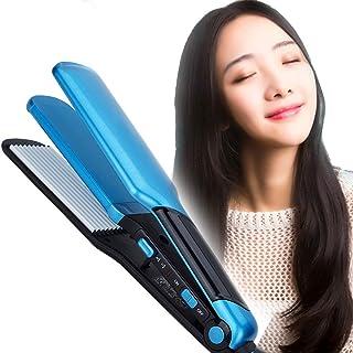 2 in 1Hair Straightener Hair Curling, Corn Hot Hair Straightener Does Not Hurt Hair Multi-Function inside Buckle Hair Arti...