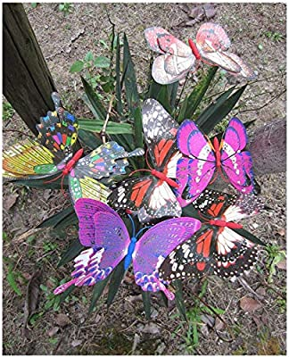 LeBeila Butterfly Garden Ornaments & Patio D?cor Butterfly Party Supplies Butterfly Decorations for Outdoor Garden & Flo Butterfly Crafts