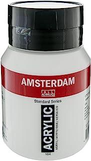 Royal Talens Amsterdam Standard Series Acrylic Color, 500ml Tube, Zinc White (17091042)