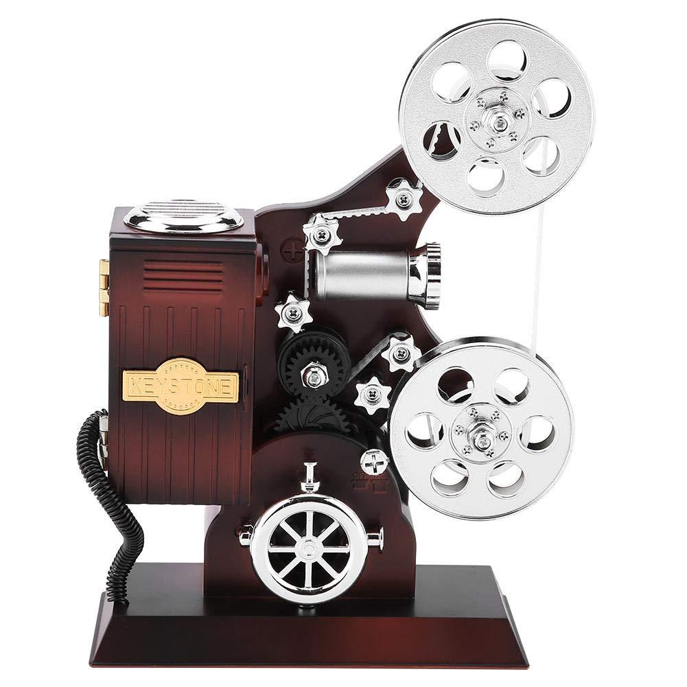 KEYREN Caja de música Estilo Vintage proyector Caja de Joyas con Espejo cosmético Organizador de Almacenamiento de Joyas Adornos de Viaje: Amazon.es: Hogar