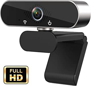 Webcam with Microphone, 1080P HD Webcam Streaming Computer Web Camera -USB Wide Angle Computer Camera for Mac YouTube Skype OBS Laptop Desktop Webcam for Video Calling Gaming Recording Conferencing