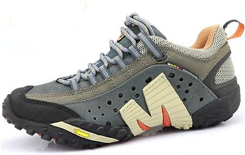 Chaussures de randonnée antidérapantes Chaussures de randonnée résistantes à l'usure Chaussures d'escalade extérieures Confortables Sports de Loisirs Chaussures de marche-gris-42