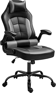 Gaming Chair, Cadcah Ergonomic Computer Chair Reclining High Back Office Chair Height Adjustment Desk Chair with Armrests Hea