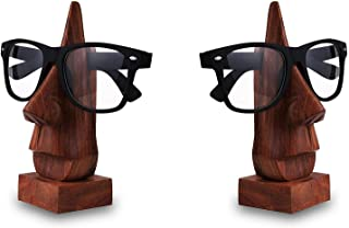 Nirvana Class Handmade Wooden Spectacle Eyeglass Holder Display Stand - Desktop Accessory Set of 2