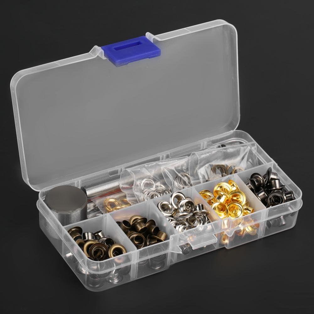 Oeillet oeillet rondelle /œillets en m/étal ensemble /œillets Kit avec 3 pi/èces outils de travail manuel ensemble pour v/êtements chaussures sac en cuir artisanat 3mm*420
