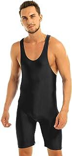 YOOJIA Men's One Piece Sleeveless Boxers Short Leotard Bodysuit Bodywear Wrestling Singlet Underwear