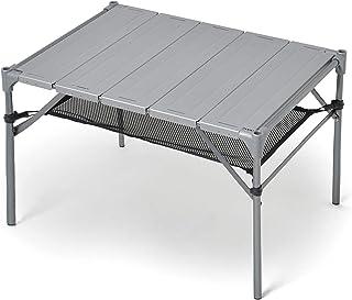 【高耐久!耐荷重40kg 耐熱200度(試験済)】キャンプ テーブル GUAPO 折りたたみ 組立簡単 軽量 コンパクト アウトドアテーブル ローテーブル ソロキャンプ