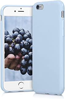 kwmobile TPU Silicone Case Compatible with Apple iPhone 6 / 6S - Soft Flexible Protective Phone Cover - Light Blue Matte