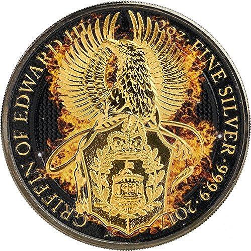 comprar descuentos Power Coin Burning Griffin Grifo Ardiente Queen Queen Queen Beasts 2 Oz Moneda plata 5£ United Kingdom 2017  venderse como panqueques