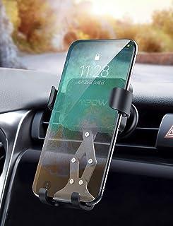 車載ホルダー 自動ロック エアコン吹き出し口用 片手操作 Mpow 重力式 スマホホルダー iPhone/Sony/Samsungなどの多機種対応 日本語説明書 18ヶ月保証