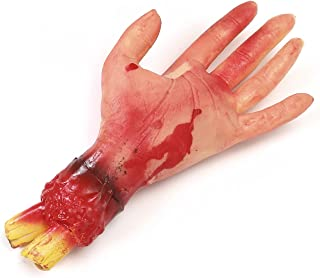 Kaliosy Halloween Blood Hand Fake Human Arms Bloody Hands Horror Realistic Severed Arm, Scary Prank Arm Props for Hallowee...