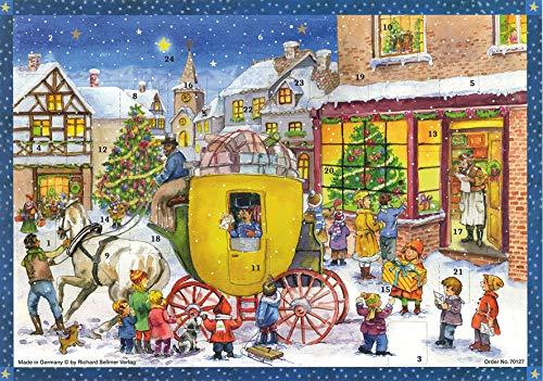 Adventskalender / Weihnachtskalender für Kinder und Erwachsene mit Bildern und Glitzer