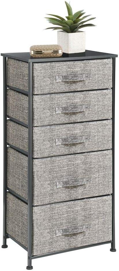 mDesign Storage Dresser Furniture Unit Organizer Fresno quality assurance Mall Standing Tall -
