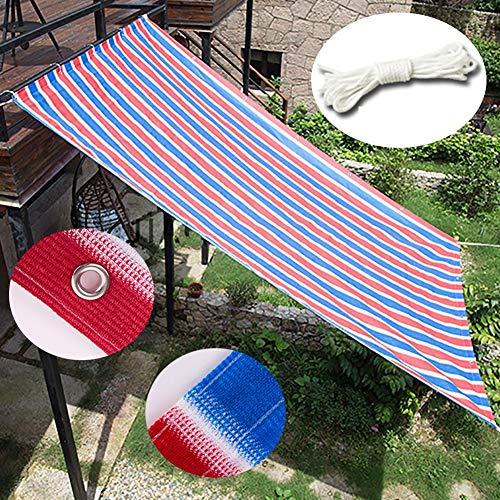 WXQIANG Las Rayas del Color de Sombra Panel Bloque 90% de los Rayos UV con la Cinta Up Ready-Empate en el Gazebo Pergola Porche, for Jardín/Patio/Porche Protección Solar, Aislamiento térmico.