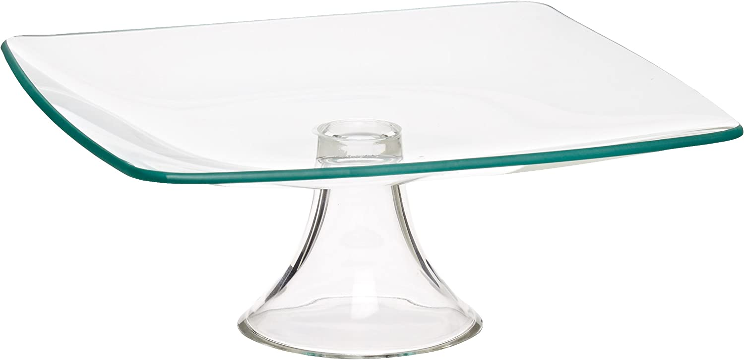 Style Setter Soho Pedestal Plate, 8-Inch, Clear by Style Setter