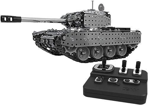 promociones emocionantes Gwendoll 952 UNIDS 2.4G RC Tanque Tanque Tanque Militar Conjunto de Ensamblaje de DIY Sistema de Control Remoto de Acero Inoxidable Modelo de Juguete Incorporado 3.7 V 300MAh batería de Litio  los últimos modelos