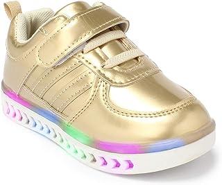 Walktrendy Unisex Sneakers- 8.5 UK (26 EU) (9.5 Kids US) (wty945_Gold
