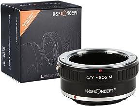 [正規代理店]K&F コンタックス ヤシカC/Y-CANON EOS M マウントアダプター レンズクロス付 cy-eosm (KFEOSM)