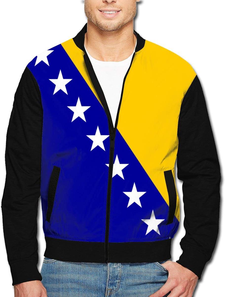 Yongchuang Feng cheap Men's Bomber Bosnian Jacket Flag Aviator Sacramento Mall