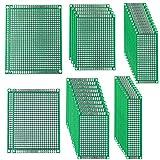 FULARR® 38Pcs Premium Doble Cara PCB Prototipo Placa Kit, 6 Tamaños Universal PCB Prototipo Circuito Placa, para Arduino Kit, Soldadura DIY y Proyecto Electrónico