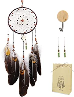 HyiC Dream Catchers Bring Good Dream Handmade Brown Exquisite Feather Dreamcatchers Home Wedding Nursery Bedroom Craft Decor Personalized Birthday Christmas Gifts