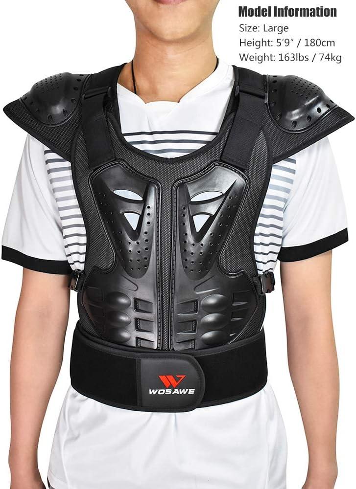 Wosawe Erwachsene Motorrad Körperpanzer Atv Schutzweste Dirtbike Brustschutz Rücken Protektor S Bekleidung