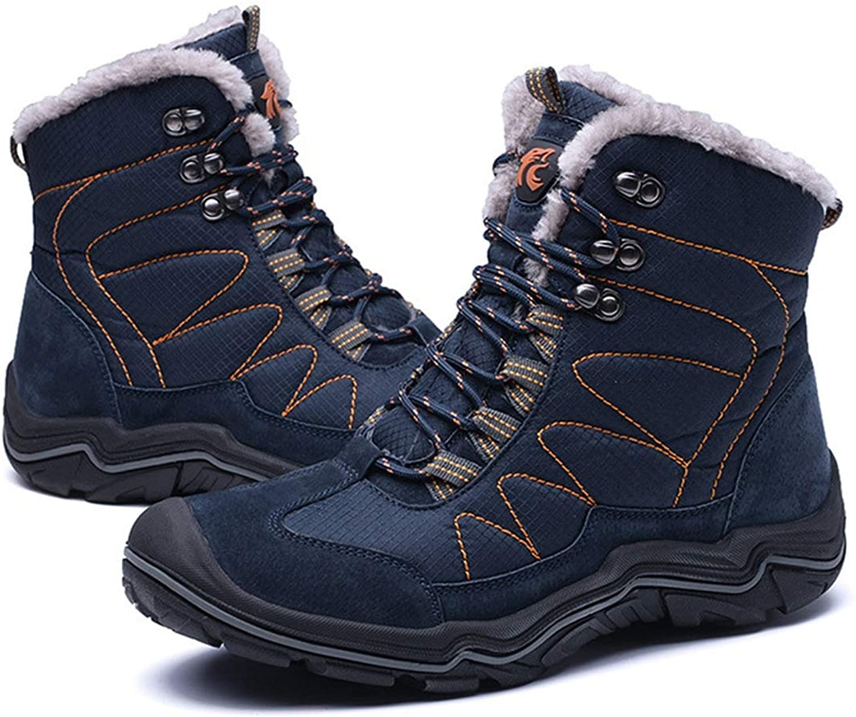 Adong Mens Waterproof High Rise Jungle Trekking shoes Plus Samt Lace-up Non Slip Breathable Outdoor shoes,E,43EU