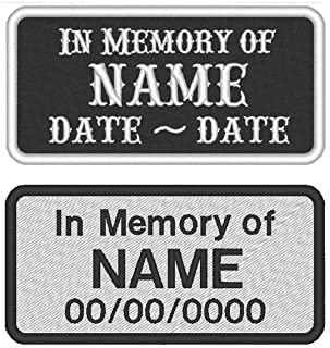 Custom Embroidered Memorial Patch Biker In Memory of Patches MC 4