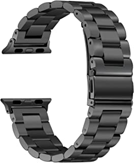 HILIMNY Compatible for Apple Watch Band 38mm 40mm 42mm 44mm, Classic Men Women Stainless Steel Metal iWatch Strap Replacement Wristbands for Apple Watch Series 1, 2, 3, 4 …