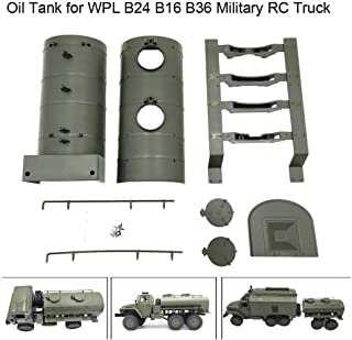 Wenini WPL Remote Control Army Green Oil Tank for WPL B24 B16 B36 Military RC Car Truck (1 Set of WPL)