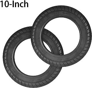 OurLeeme Neumático eléctrico de 10 Pulgadas para Scooter, llanta neumática de reemplazo sólido antipincheta Delantero/Trasero para neumático para Scooter de 10 Pulgadas o Scooter Xiaomi M365