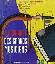 livre L'alphabet des grands musiciens (1 livre + coffret de 2 CD)