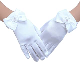 Tandi Girls Gorgeous Satin Fancy Gloves for Special...