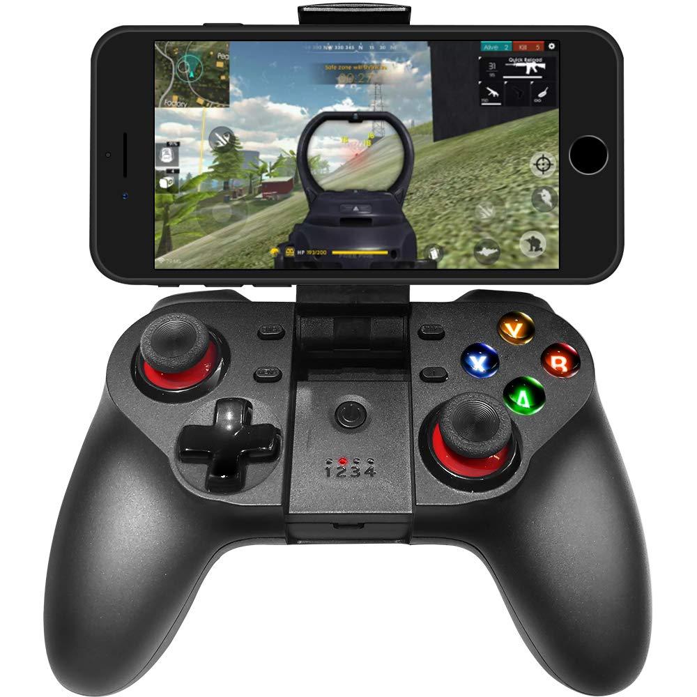 Controlador de Juego para Smartphone, Compatible con iPhone, Gamepad inalámbrico, Compatible con Dispositivos iOS y Android, iPad, Tableta (Negro): Amazon.es: Electrónica