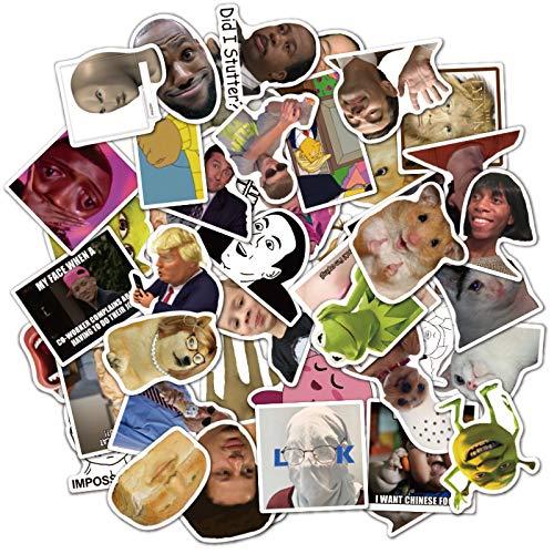 XXCKA 50 Nuevas Tazas de Agua Divertidas de la Caja de la Maleta del Bolso de Emoji se Pueden Quitar Pegatinas Impermeables