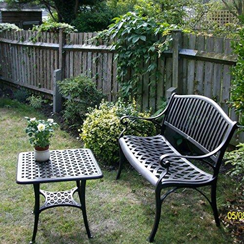 Lazy Susan Furniture – Grace Metall Gartenbank Antique Bronze (kein Kissen) - 8