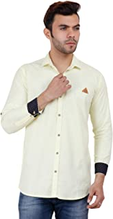 Onerio Men's Pure Cotton Full Sleeve Formal | Casual Shirt | Shirt for Men's | Formal Shirt